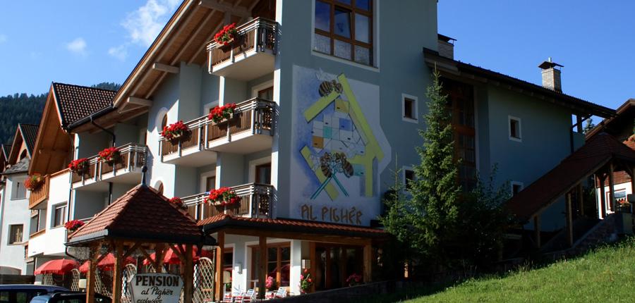 Chalet Hotel Al Pigher, La Villa, Italy - hotel exterior in summer.jpg